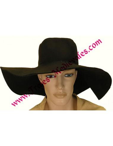 Sombrero español ala ancha, negro