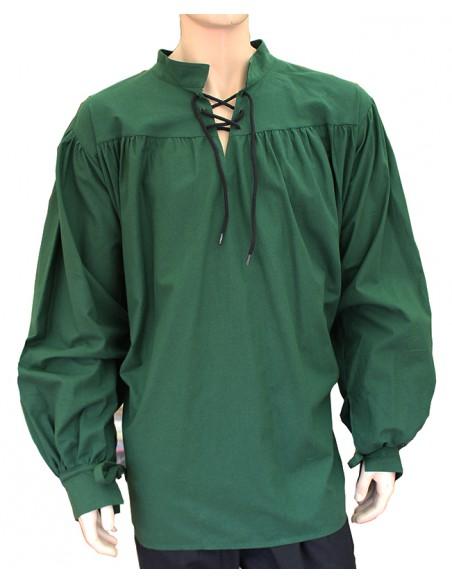 Camisa medieval, Íñiguez, (en varios colores), verde.