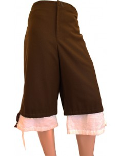 Calzón regional caballero, de paño, marrón.