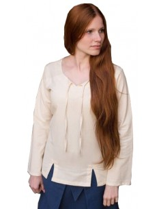 Blusa medieval, Lysia, natural.